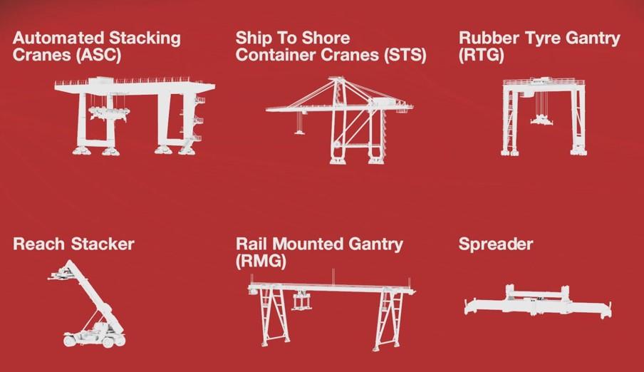 Các loại xích tải công nghiệp cho cảng. Xích tải , xích con lăn chính hãng