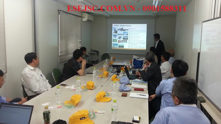 Công ty ESE dẫn khách hàng đến nhà máy Parker tại Nhật