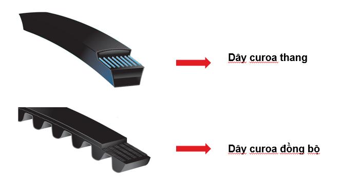 Các loại dây curoa phổ thông thường gặp, dây curoa công nghiệp
