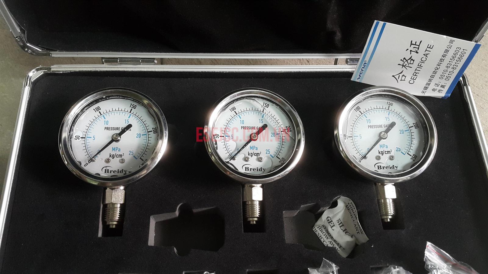 Bộ đồng hồ kiểm tra áp suất thủy lực