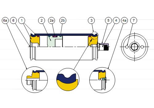 Cấu tạo bình tích áp piston acp